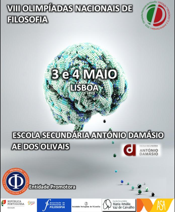 cartaz das VIII olimpíadas nacionais de filosofia